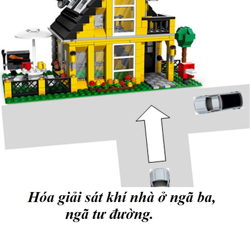 Hóa giải sát khí nhà ở ngã ba, ngã tư đường như thế nào?