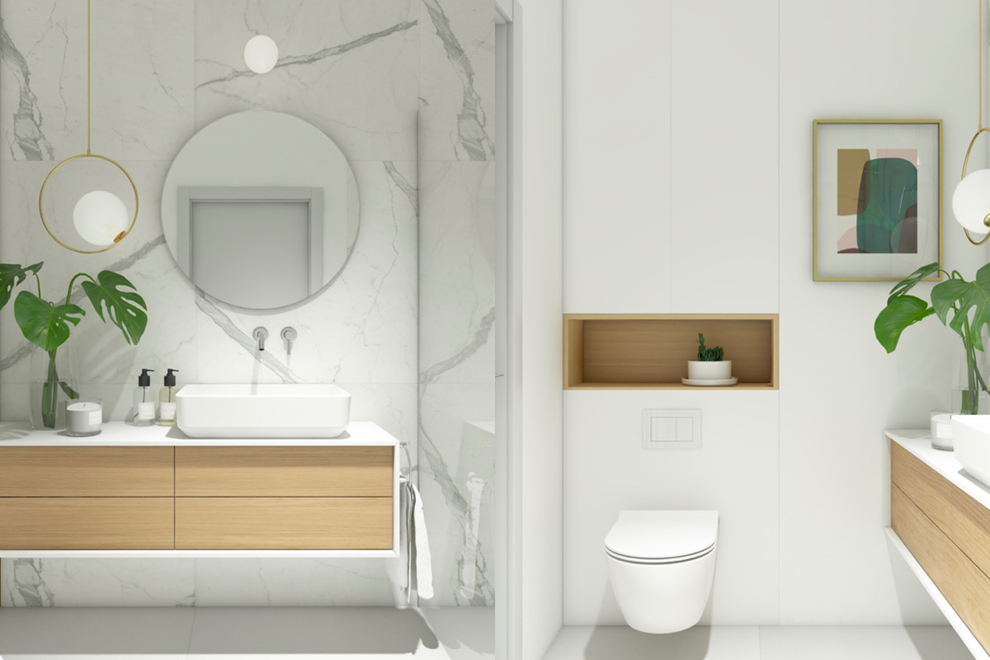 Bố trí phòng tắm trong phòng ngủ hợp phong thủy
